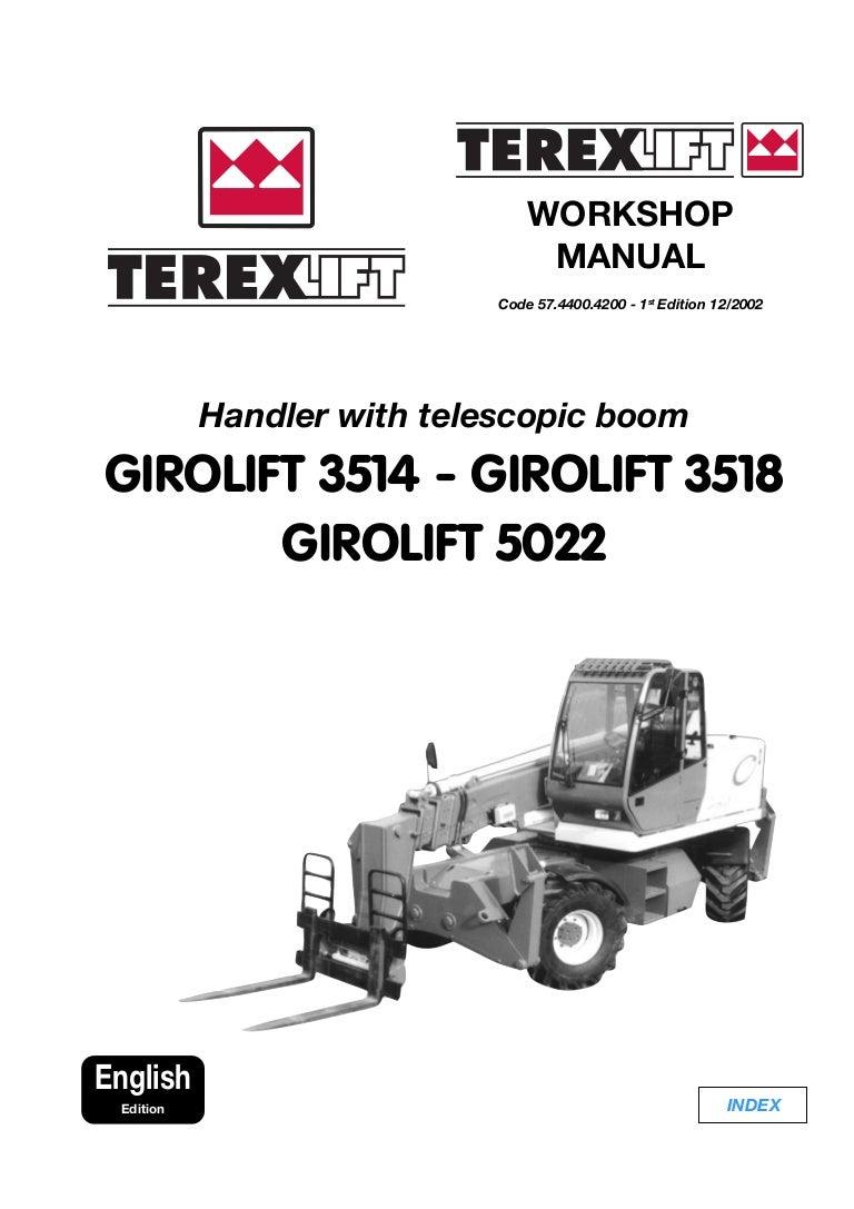 TEREX GIROLIFT 5022 TELESCOPIC HANDLER Service Repair Manual