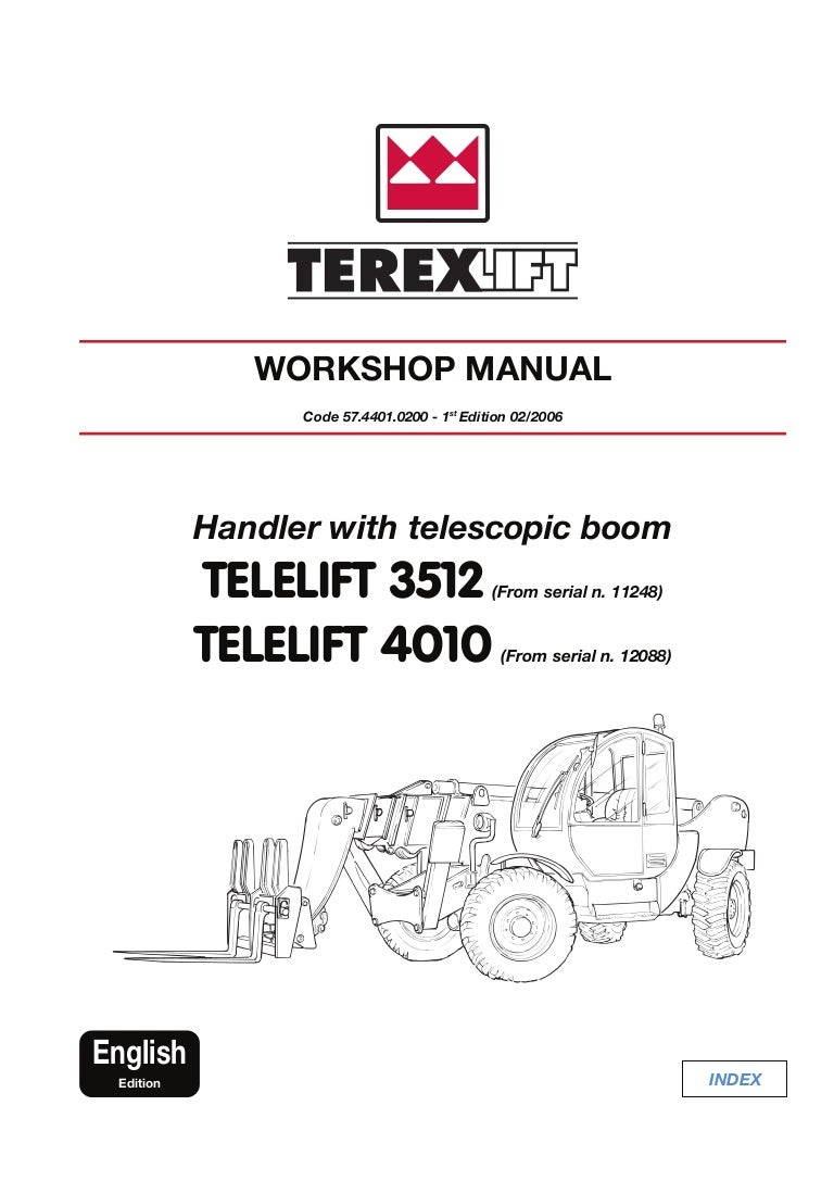 Terex Telelift 4010 Telescopic Handler Service Repair Manual Sn12088 Yale Forklift Wiring Diagram On Telephone Box View