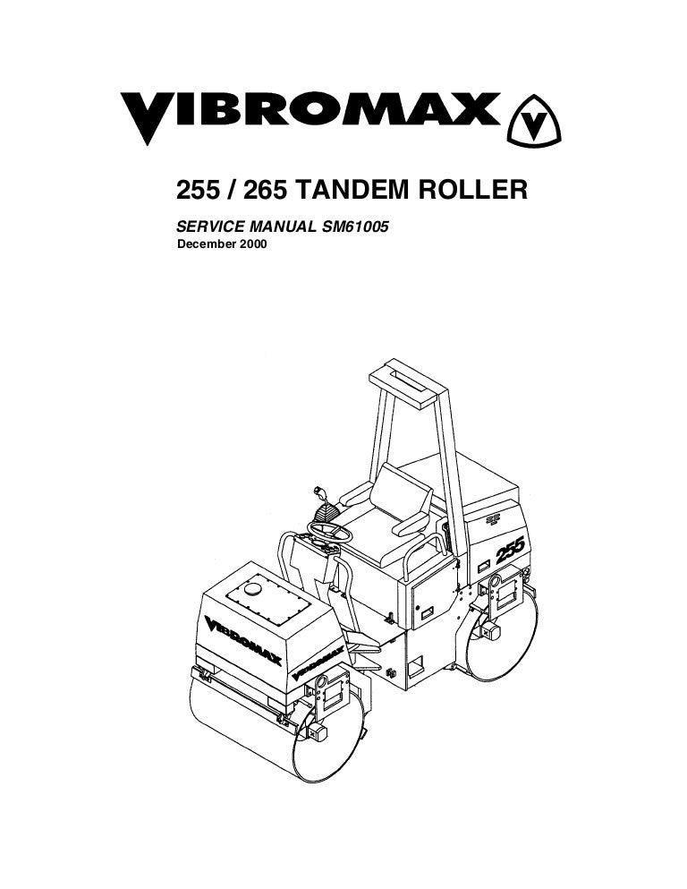 JCB VIBROMAX 255 TANDEM ROLLER Service Repair Manual