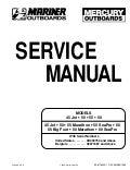 Mercury Mariner Outboard 200HP Service Repair Manual SN