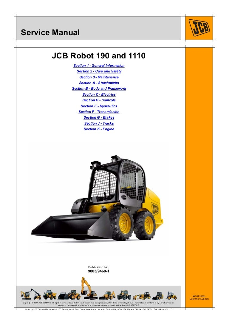 Jcb Robot Wiring Diagram Start Building A For Forklifts 1110t 1110thf Service Repair Manual Sn 1407000 To 1409999 Rh Slideshare Net Parts Deutz Engine
