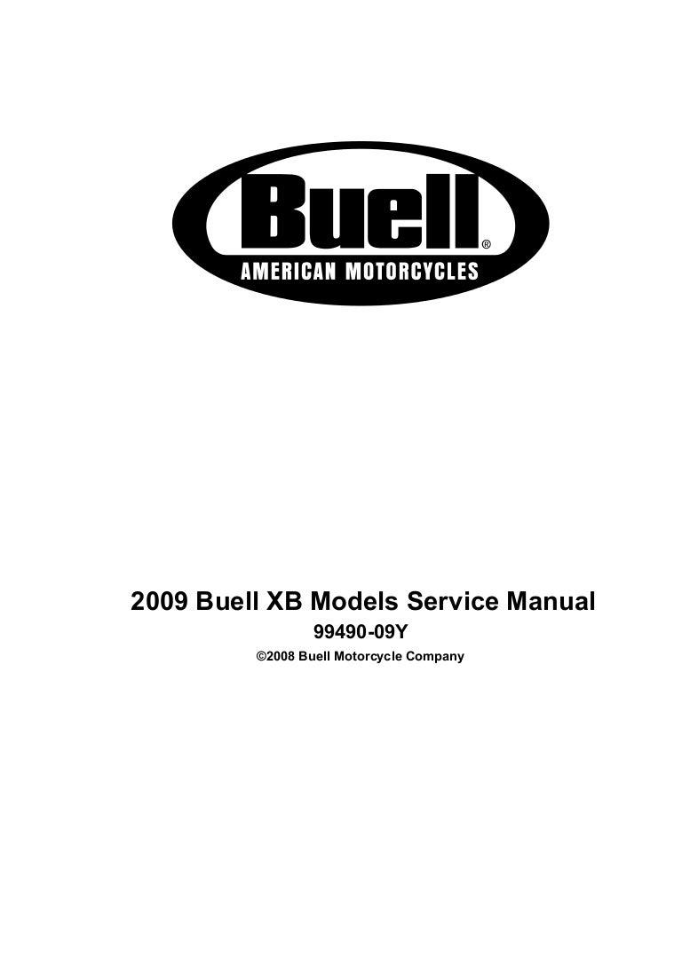 2009 Buell Ulysses XB12XT Service Repair Manual