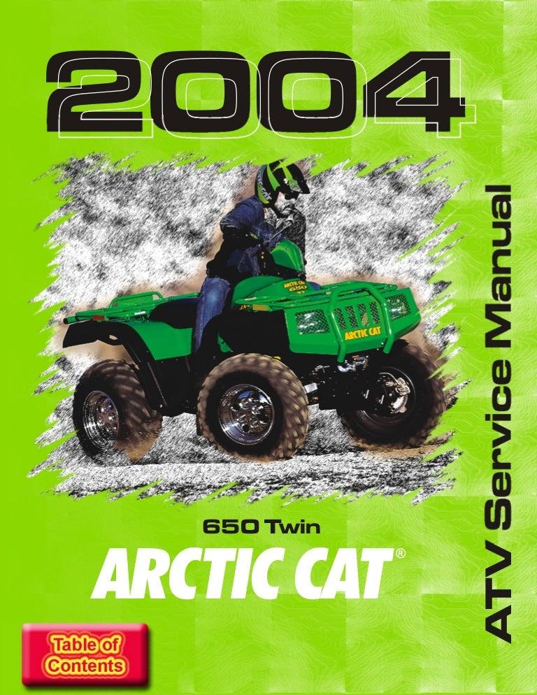 [WLLP_2054]   2004 ARCTIC CAT 650 TWIN ATV Service Repair Manual | Arctic Cat 650 V2 Wiring Diagram |  | SlideShare