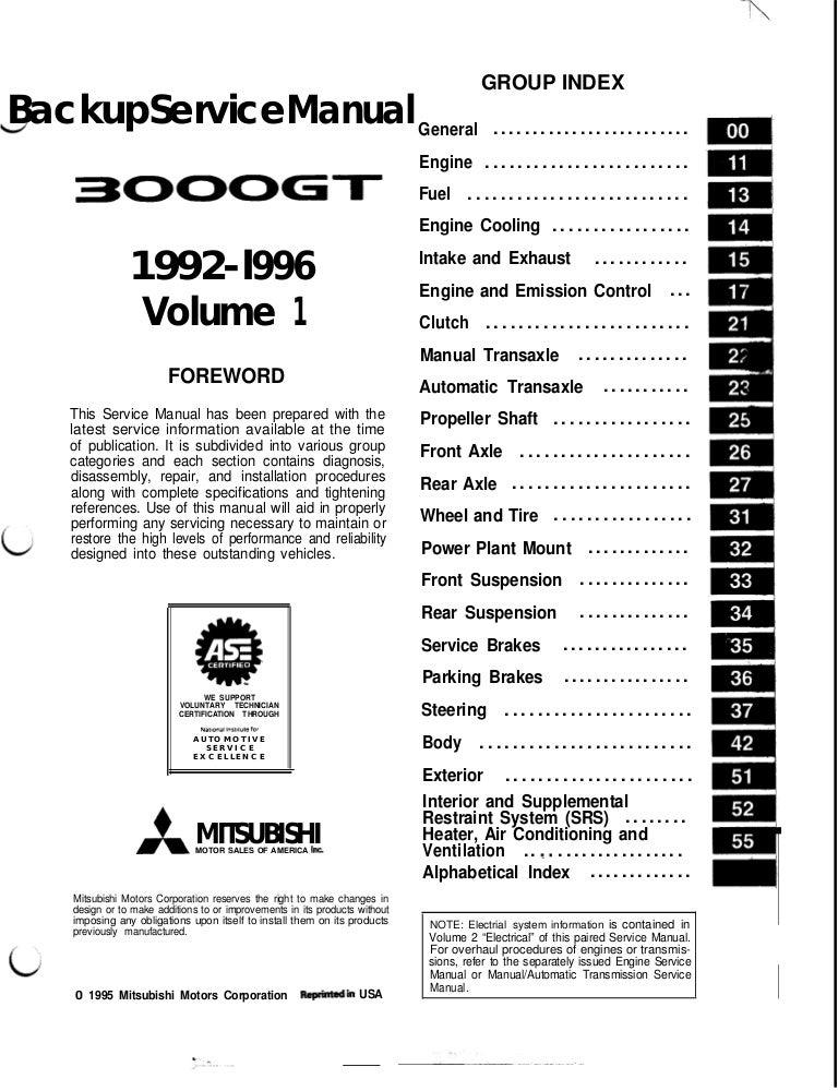 1996 mitsubishi 3000gt service repair manual  slideshare