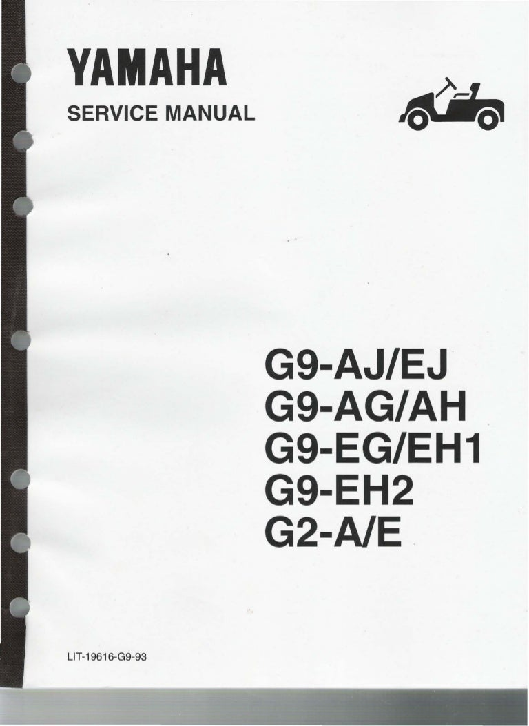 yamaha g9 ah golf cart service repair manual  g9 engine diagram #13