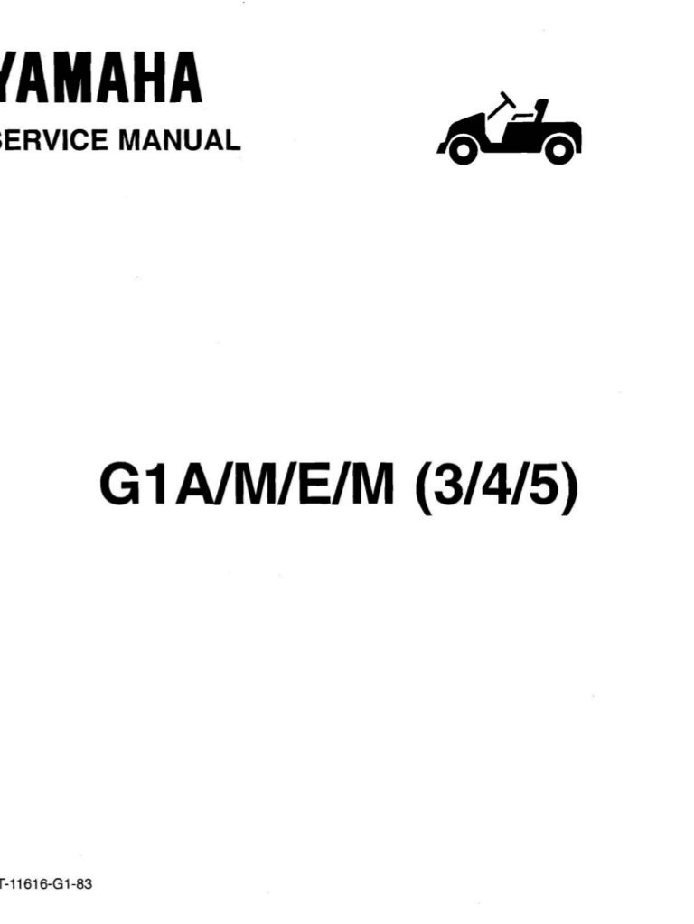Yamaha G1 Golf Car Service Repair Manual