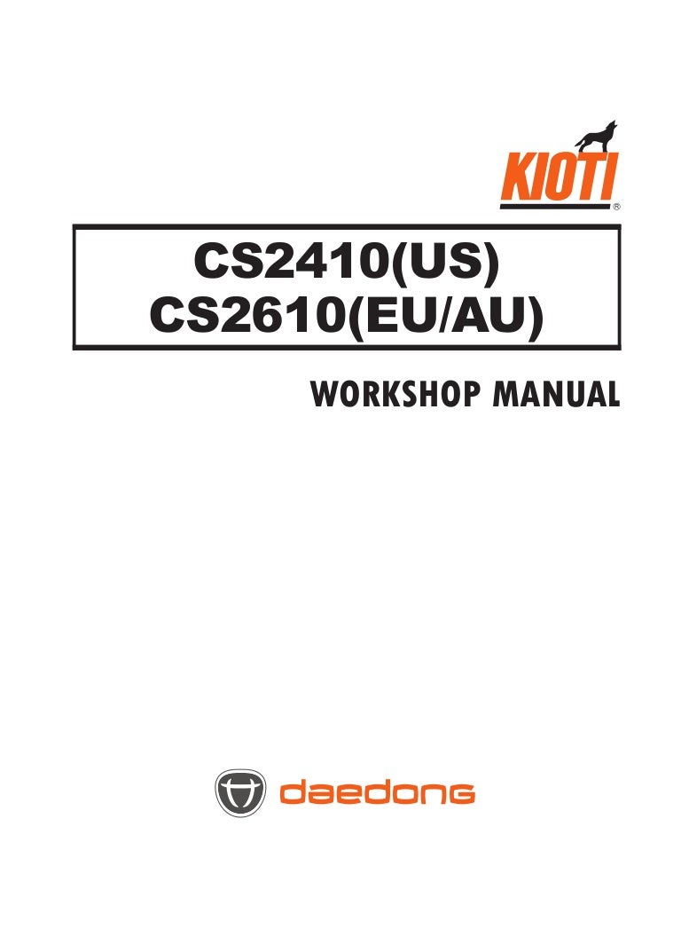 Kioti Daedong Cs2410 Us Tractor Service Repair Manual Engine Diagram