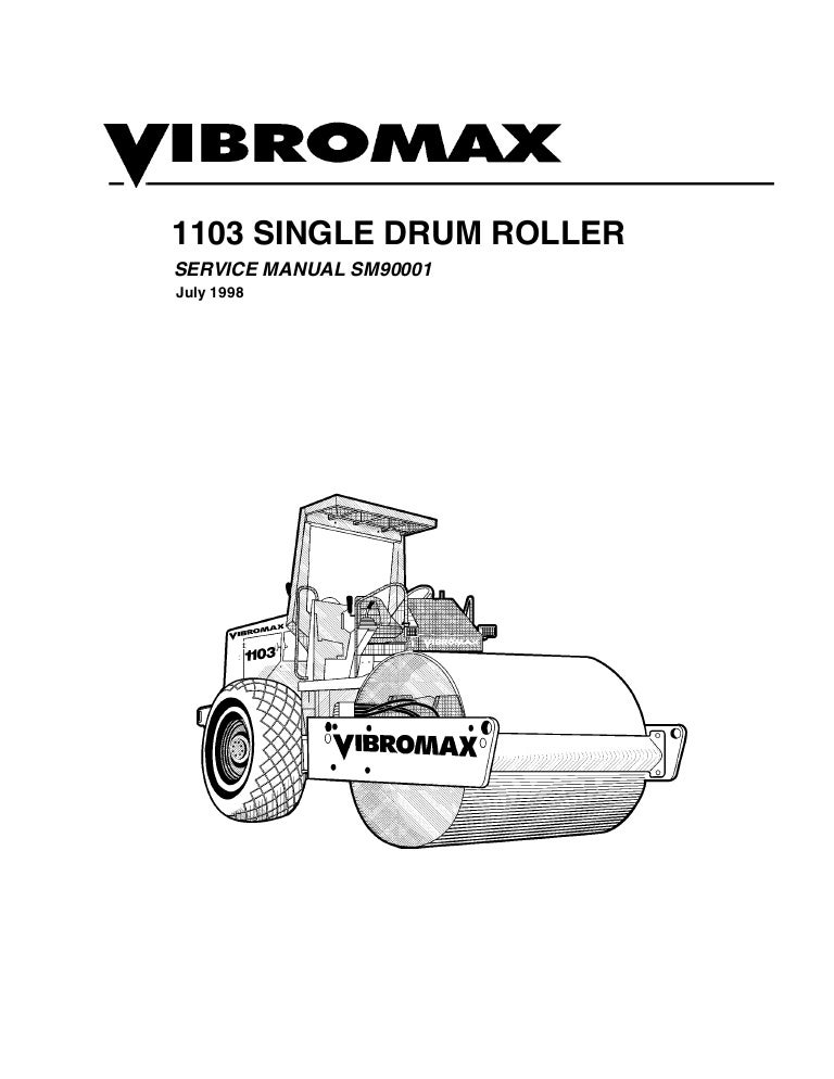 JCB VIBROMAX 1103 Single Drum Roller Service Repair Manual