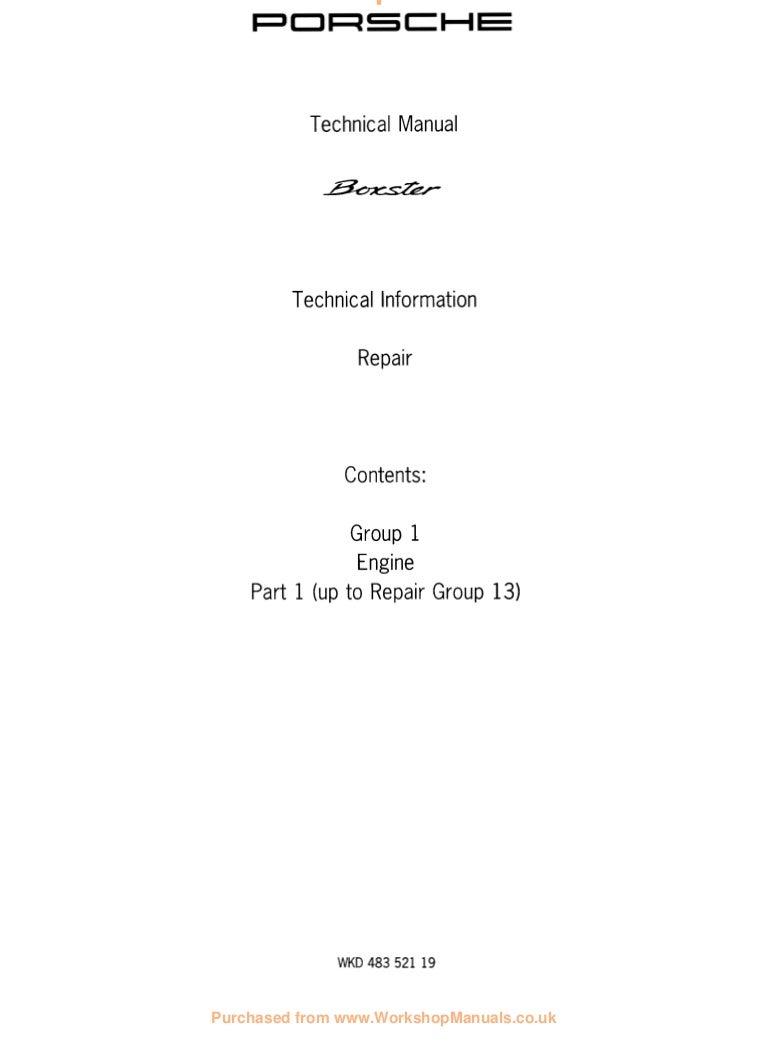 1999 Porsche Boxster 986 Service Repair Manual Engine Vacuum Diagram