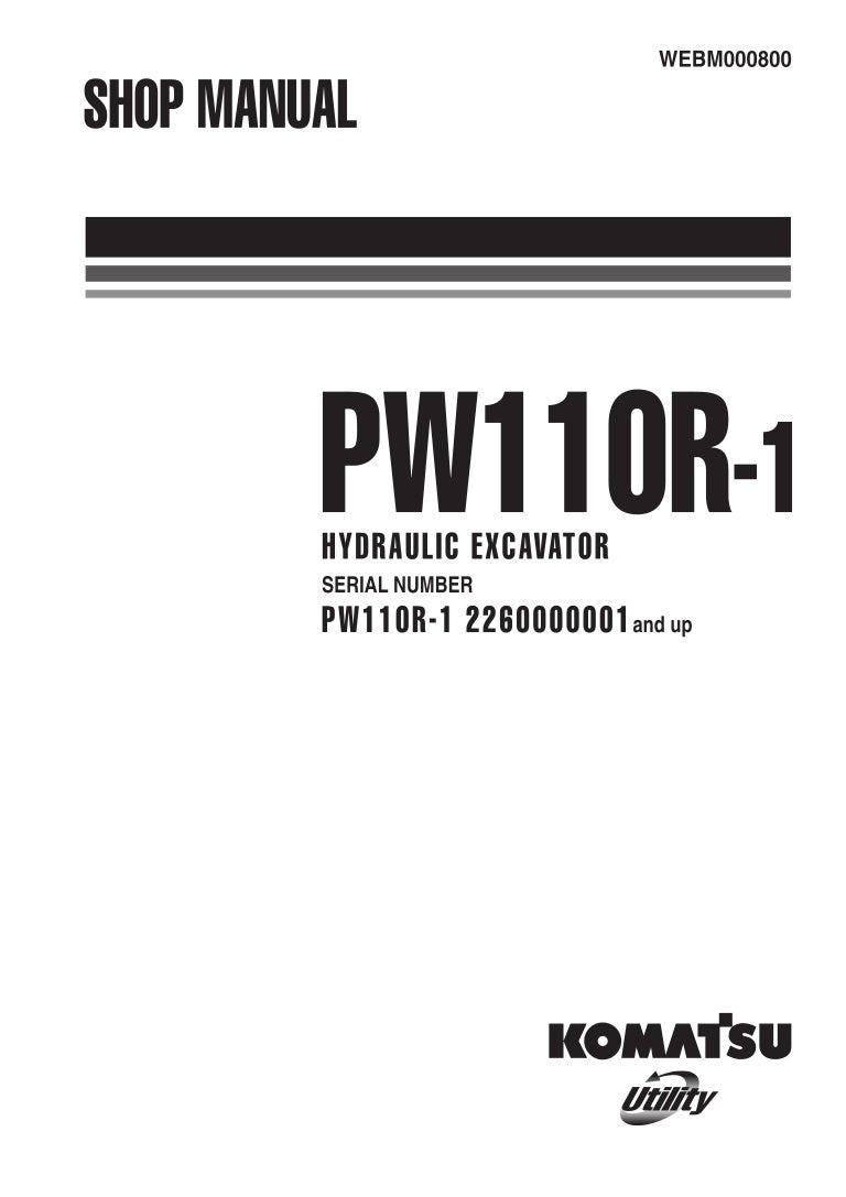 Komatsu PW110R-1 Hydraulic Excavator Service Repair Manual