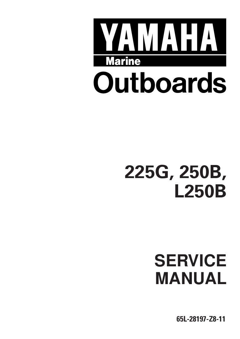 YAMAHA OUTBOARD 200HETO, V200TR Service Repair Manual L
