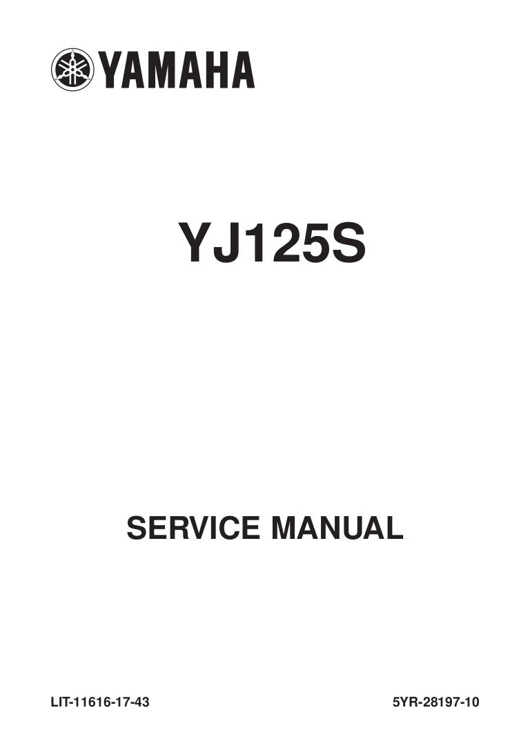 2006 Yamaha YJ125 Service Repair Manual