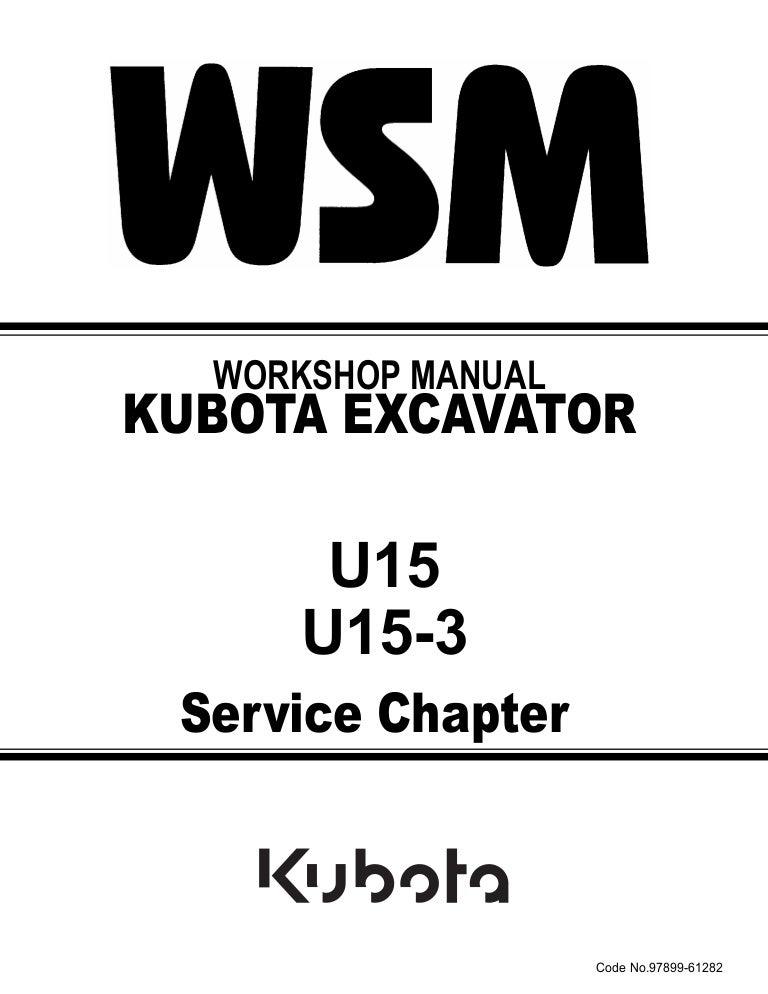 Fantastic Kubota U15 3 Micro Excavator Service Repair Manual Wiring Digital Resources Funapmognl