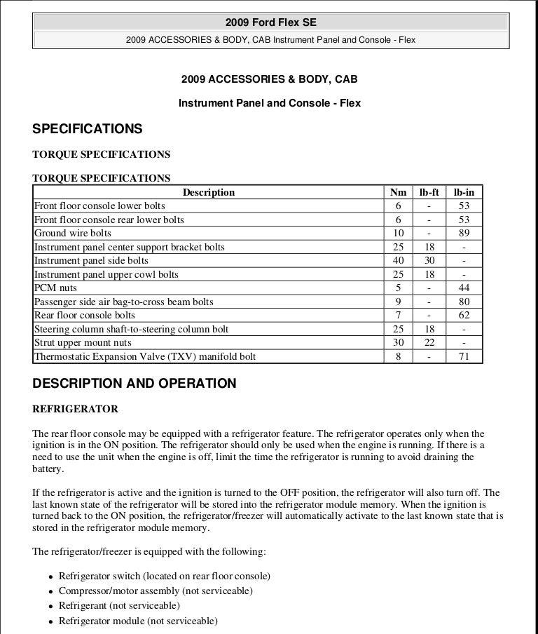 2009 ford flex service repair manual rh slideshare net