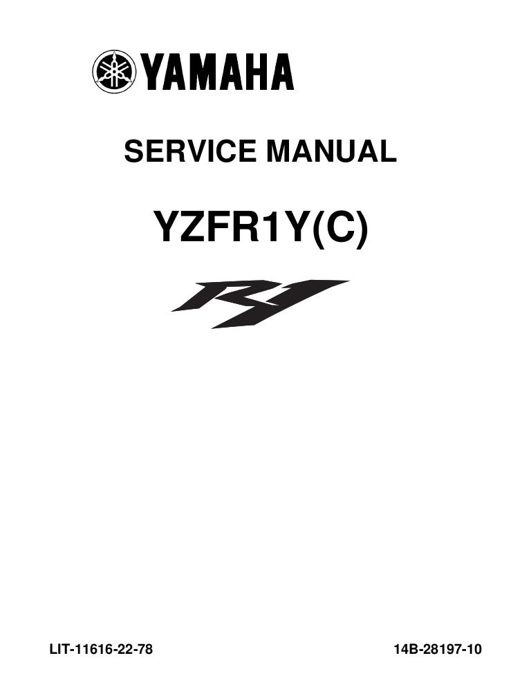 2009 Yamaha YZFR1000Y R-1 Service Repair Manual