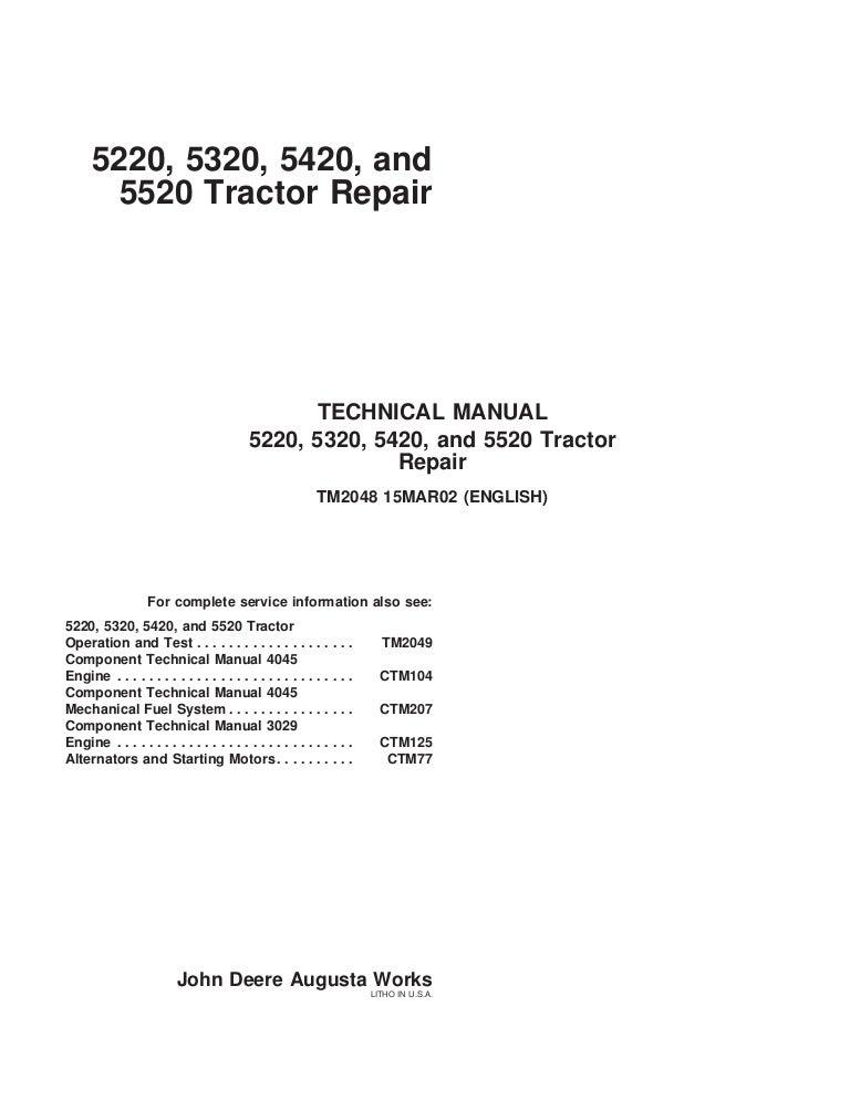 john deere 5420 tractor service repair manual  slideshare