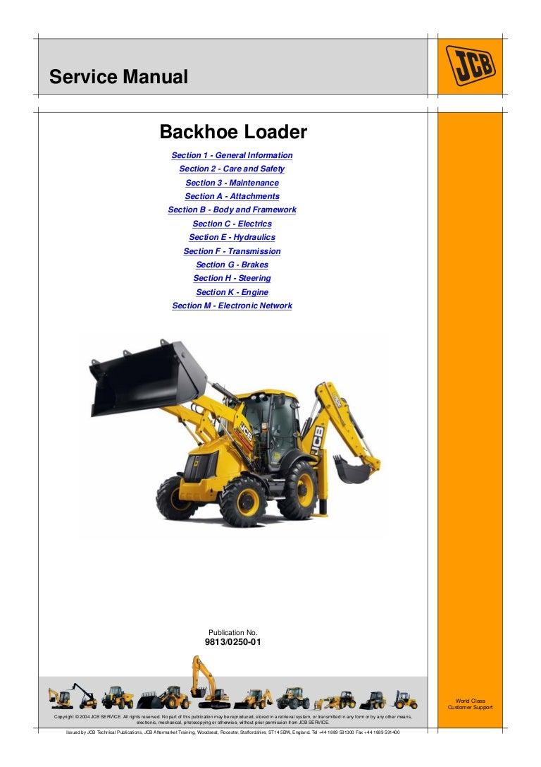 Jcb 3cx Backhoe Loader Service Repair Manual Sn2000000 Onwards Excavator Schematic