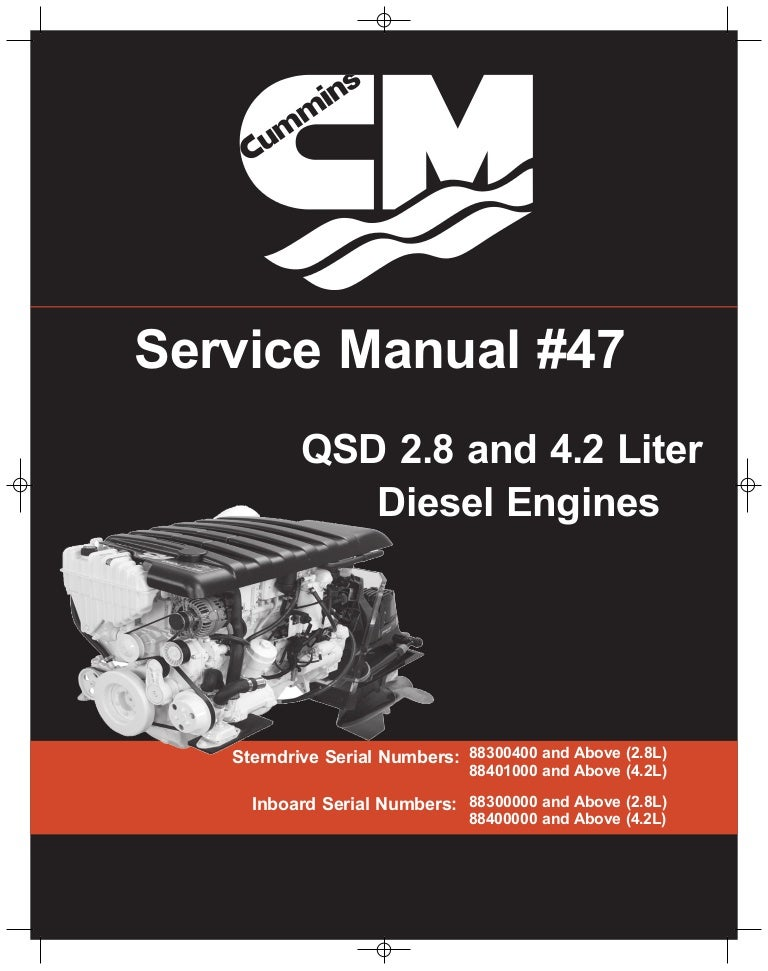 cummins mercruiser qsd 4 2 350 hp diesel engine service repair manual rh slideshare net Owner's Manual Owner's Manual