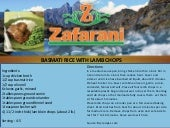 Zafarani basmati rice with lamb chops cooking recipe