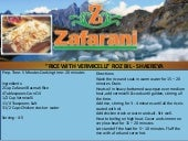 Zafarani basmati rice with vermicelli roz bil   shaereya Food Recipe