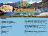 Zafarani indian basmati vegetarian rice recipe