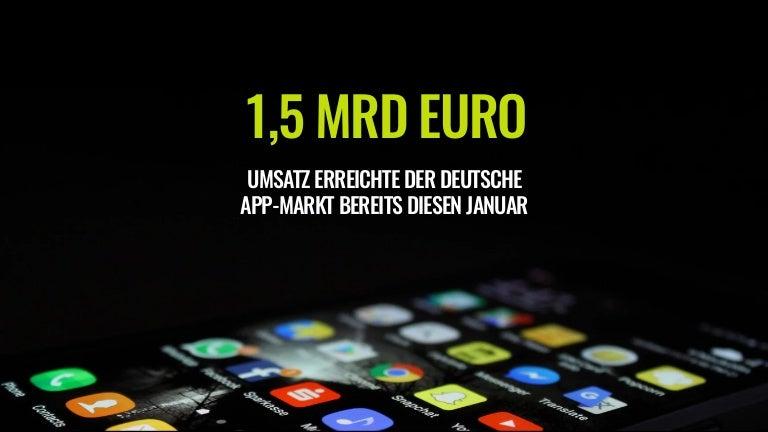 Zahl des Tages: 1,5 Milliarden Euro Umsatz erreichte der deutsche App-Markt