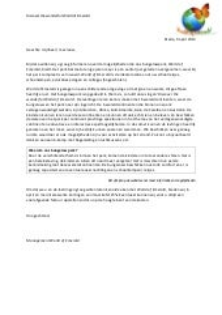 format zakelijke brief