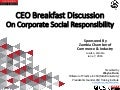 CEO Briefing on CSR - Zambia Chamber of Commerce and Industry