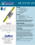 ZE 375 CF 152 friction hinge data sheet