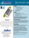 ZE 375 CF 154 friction hinge data sheet