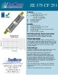 ZE 375 CF 251 friction hinge data sheet