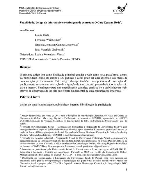 Zecanarede artigo-2011