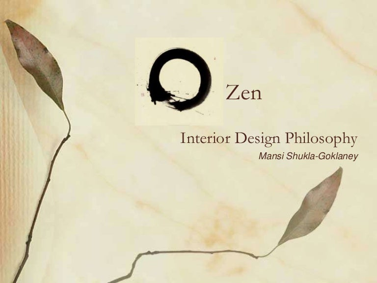 Zen philosophy of interior design