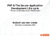 PHP & The secure development lifecycle