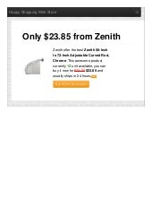 Zenith offer the best 56inch to 72inch adjustable curved rod chrome only 2385 reviews