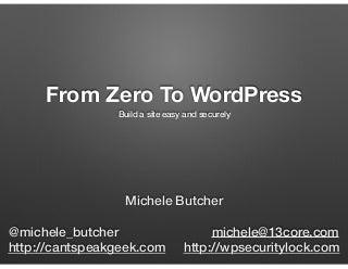From Zero To WordPress