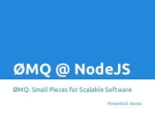 ZeroMQ with NodeJS