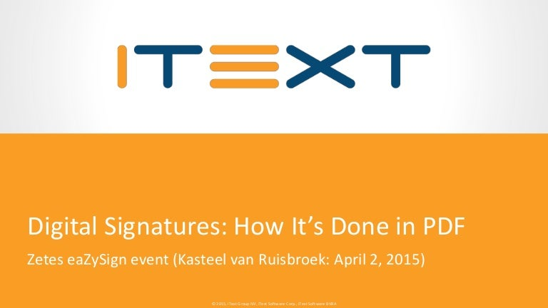 Digital Signatures: how it's done in PDF