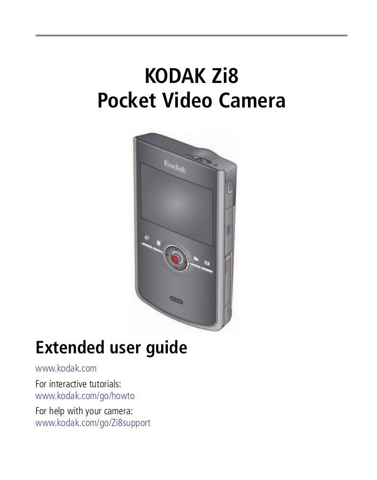 zi8 manual rh slideshare net Kodak Zi6 Kodak Zi10