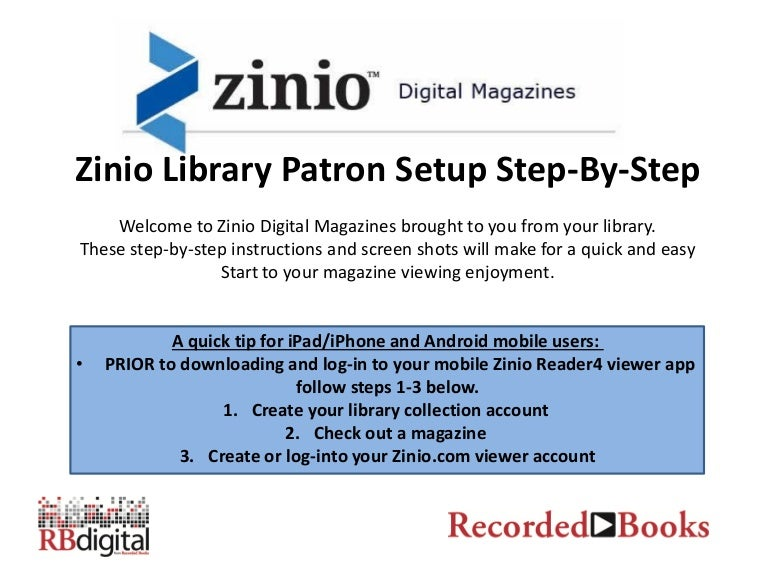 Zinio library user guide 2013