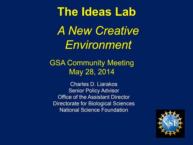 NSF Ideas lab 2014