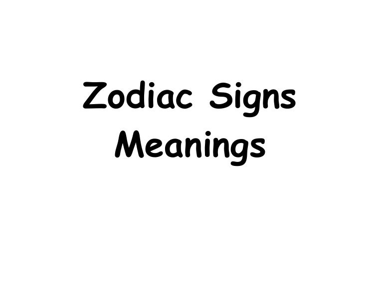 Zodiac Signs Meanings Symbols And Activities