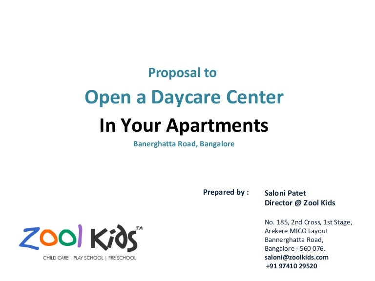 Zool Kids Day Care Proposal