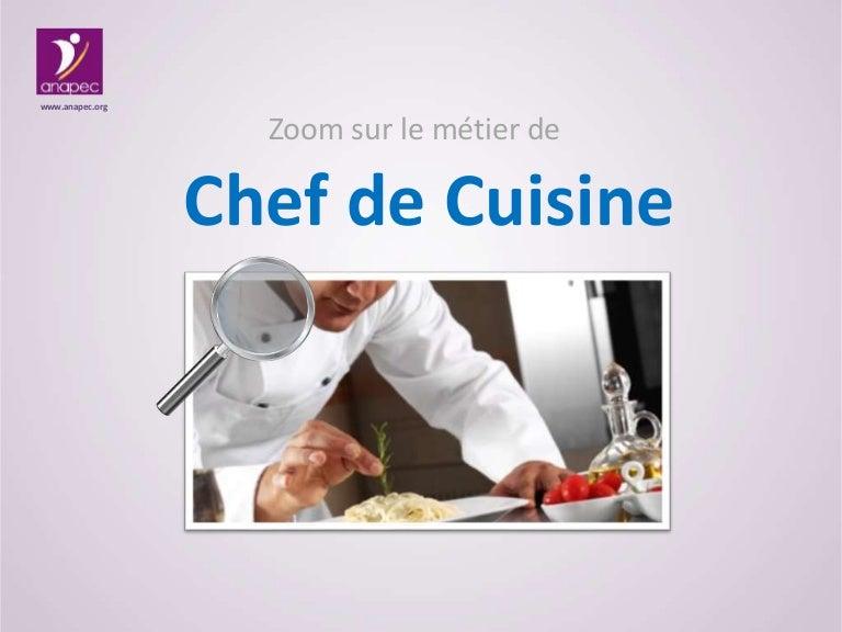 Zoom Sur Le Metier De Chef De Cuisine
