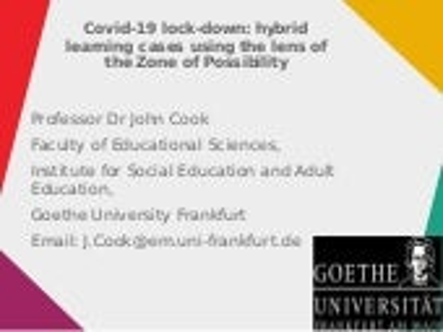 Invited talk to Bristol UWE, UK