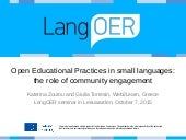 Open Educational Practices in small languages: the role of community engagement