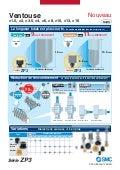 Ventouse pneumatique - Catalogue série ZP3 de SMC