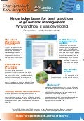 Knowledge base for best practices of genebank management: why and how it was developed