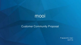 mooi Project Proposal