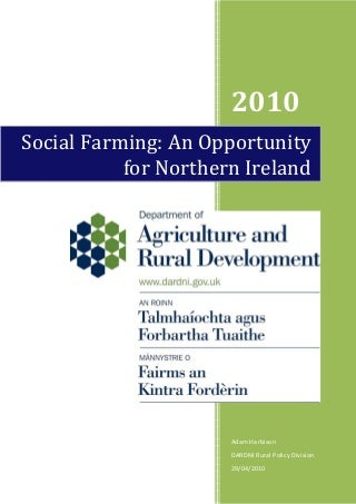 Social Farming: An Opportunity for Northern Ireland